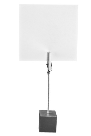 holder: Memo Holder,paper holder on the white background