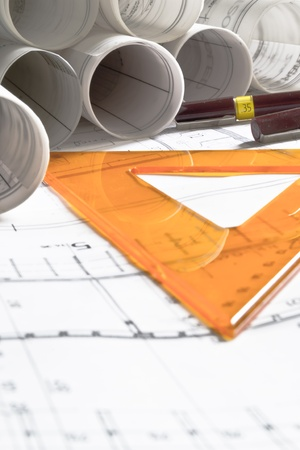 drafting tools: architectural plan