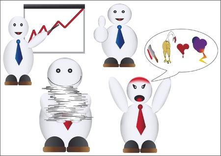 funny boss Stock Vector - 12425985
