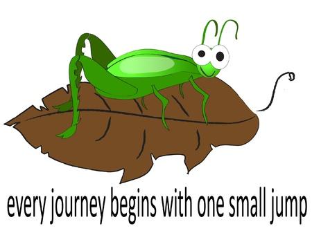 locust: Cartoon illustration green hopper