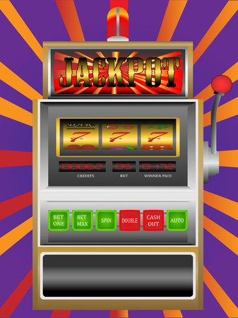 casino slot machine Stock Vector - 12425984