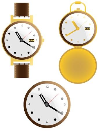 Wall clock. Vector illustration.easy to edit Stock Vector - 12425967