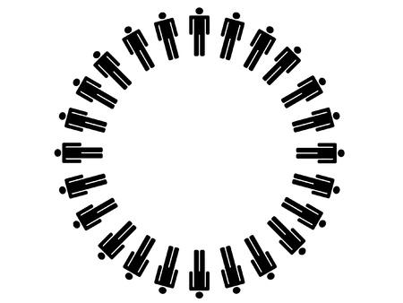 alianza: Trabajar concepto de equipo Vectores