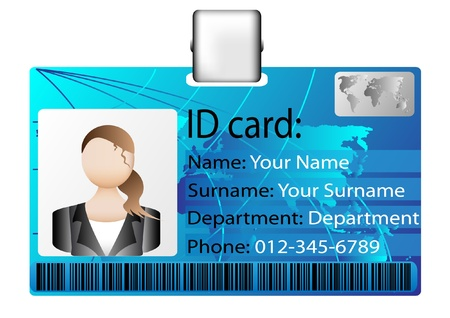 id card Stock Vector - 12425923