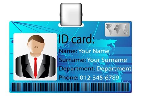 id: carte d'identit� Illustration