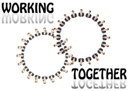 working team Stock Vector - 12455635