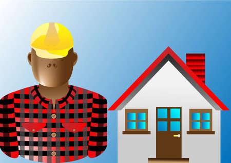 Builder man Stock Vector - 12887271