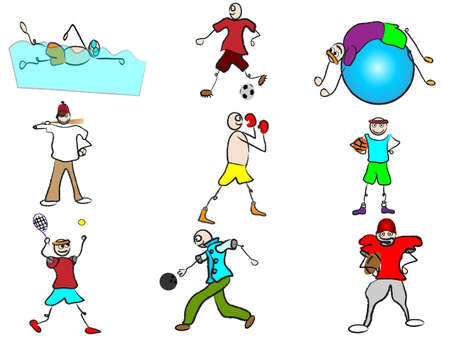 cartoon sport avatars Vector