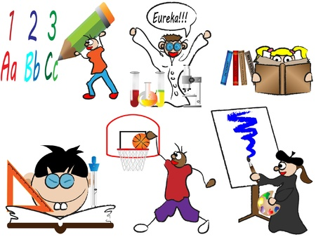elementary school kids Vector