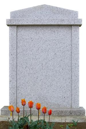 空白の墓石の碑文の準備ができて 写真素材