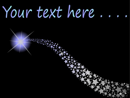 estrellas: estrella fugaz Vectores