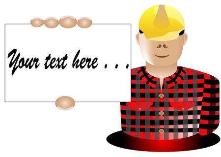builder business card Stock Vector - 13496262