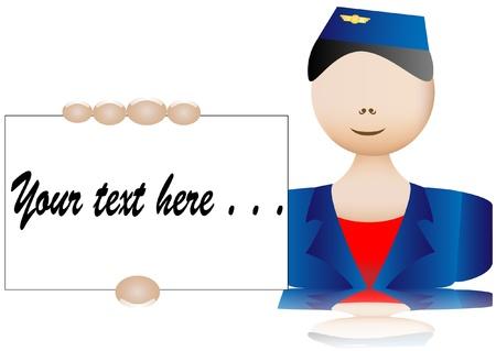 stewardess business card Vector