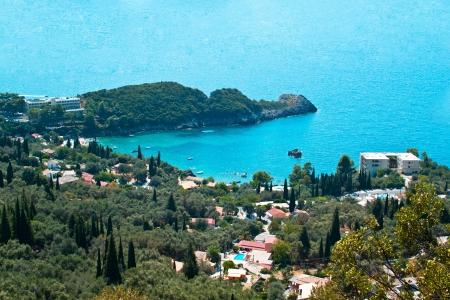 Paleokastritsa gulf on Corfu island, Greece  photo