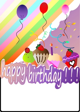 candle flame: happy birthday card