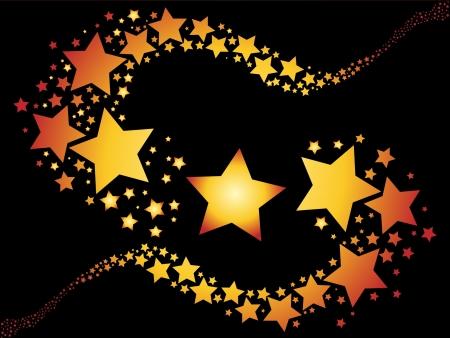 estrella caricatura: estrellas fugaces Vectores
