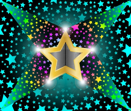 disco light shooting stars Vector