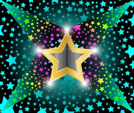 disco light shooting stars Stock Vector - 14805443