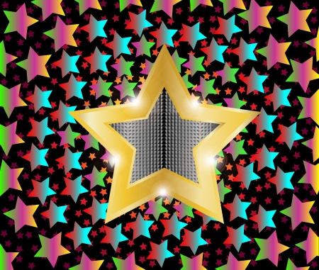 disco light shooting stars Stock Vector - 14805445