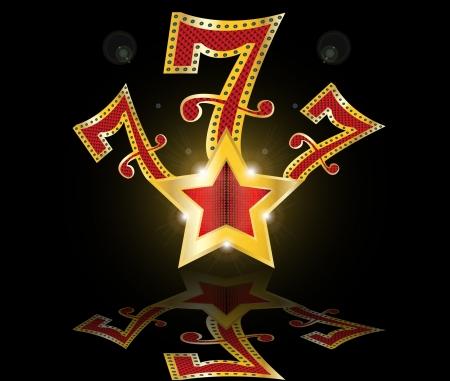 행운의 일곱 777 대성공 스톡 콘텐츠 - 14889877