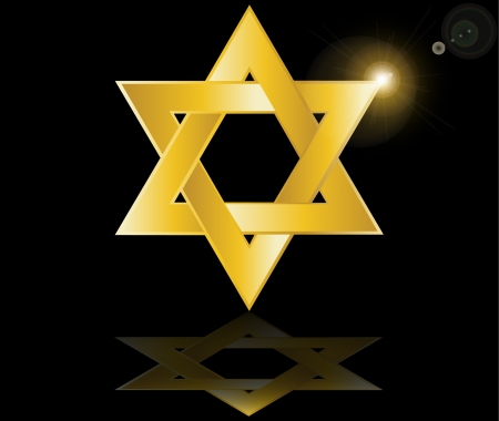 jewish ethnicity: hebrew Jewish Star of magen david vector illustration