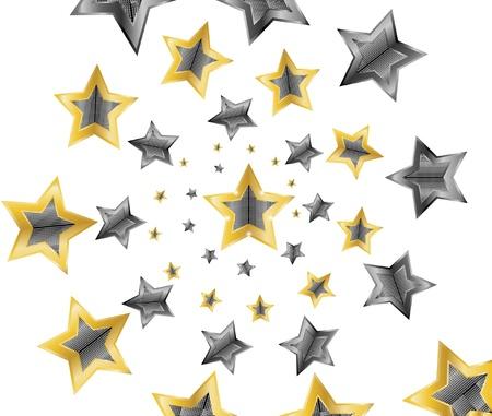 flying stars: stars   Illustration