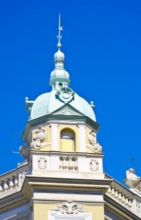 blue dome of beautiful old vintage building Stock Photo - 15227279