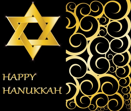 Happy Hanukkah Star of David vector illustration Vector