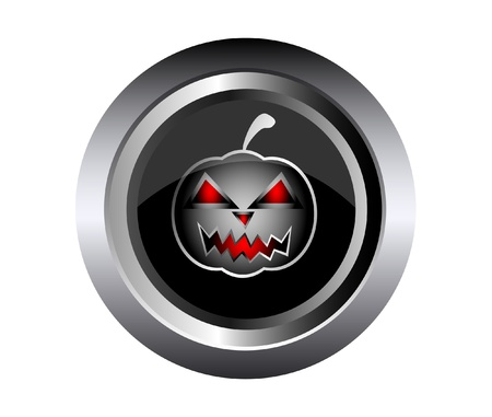 Scary face of halloween pumpkin on black metal  Stock Vector - 15433509