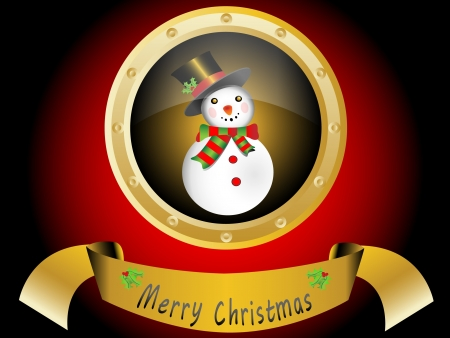 Christmas card with snowman Stock Vector - 16123106