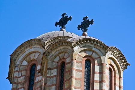 domes st  marco belgrade serbia tasmajdan park Orthodox Church bell tower Stock Photo - 16123111