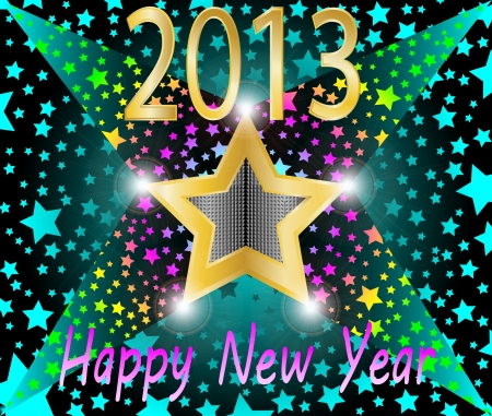 Happy new year 2013 vector illustration Stock Vector - 16123114