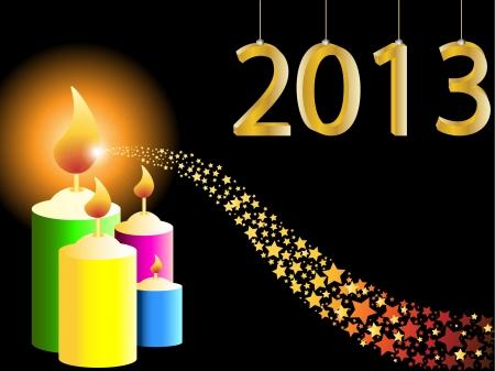 Happy new year 2013 vector illustration Stock Vector - 16123137