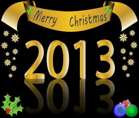 Christmas background vector illustration Stock Vector - 16123139