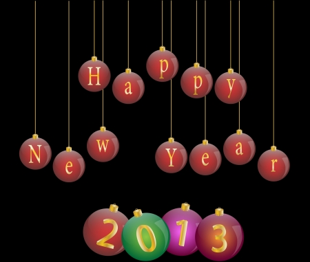 Happy new year 2013 vector illustration Stock Vector - 16123122