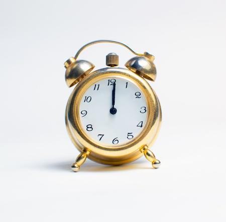 A Happy New Year Clock Striking Midnight Stock Photo - 16270990