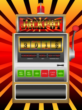 new year 2013 in slot machine vector illustration Vector
