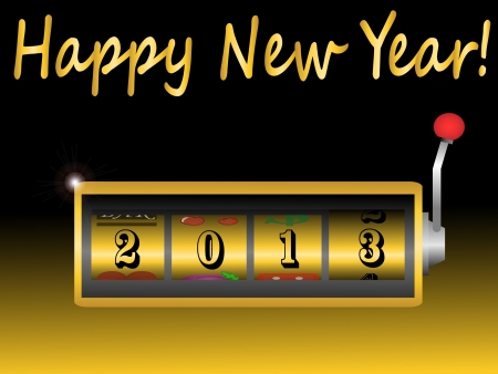 new year 2013 in slot machine vector illustration 向量圖像