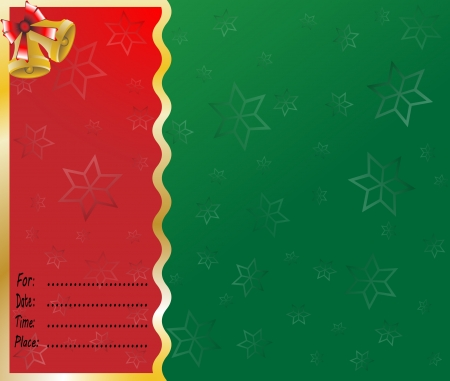 merry christmas card lettering  illustration background Stock Vector - 16350889