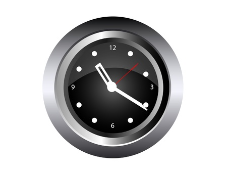 Wall Clock isolated on white Vector Illustration Stock Vector - 16456596