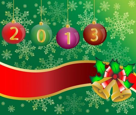 Christmas 2013 card background  illustration Stock Vector - 16564012