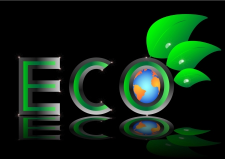 ecology eco Green Earth Planet  illustration Vector