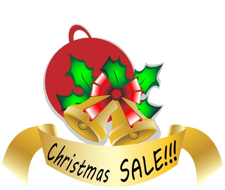 Christmas sale  illustration Stock Vector - 16783991
