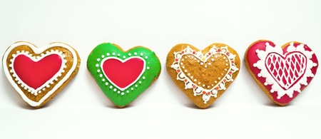 Traditional home made Christmas cookie ginger breads photo