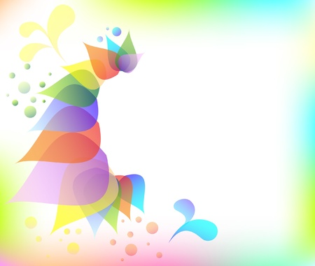 Colorful floral abstract background lorem ipsum vector illustration Stock Vector - 16847621