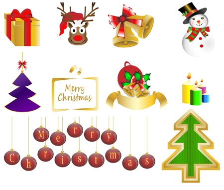 Christmas background icon set vector illustration Stock Vector - 16886587