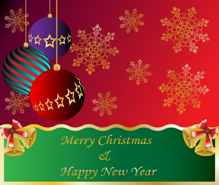 Christmas Card Background Illustration happy new year Vector