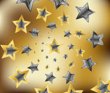 gold star illustration Vector