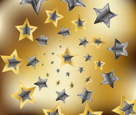 gold star illustration Stock Vector - 17067858