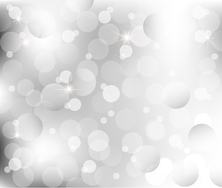 abstract Lights on gray silver background vector illustration Vector